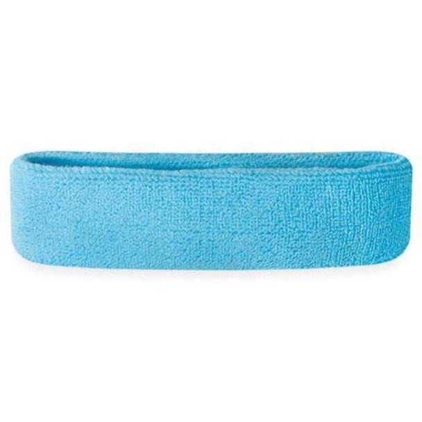 Light Blue  Terry Cloth Sweatband/Headband 3096
