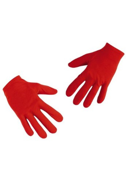 Child Red Costume Gloves Polyester PAIR 5033