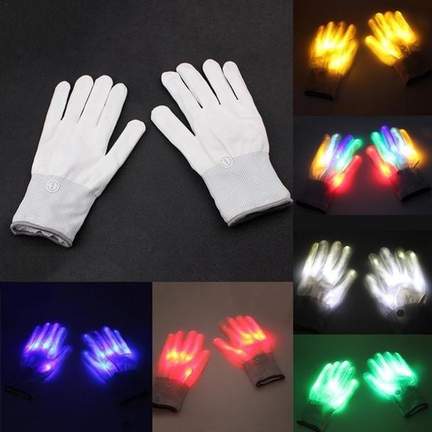Glow LED Gloves White 5048