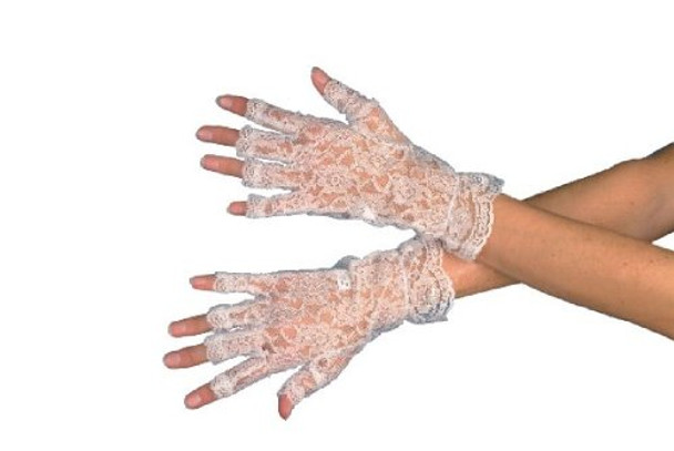 Sexy Fingerless Lace Gloves White 5055