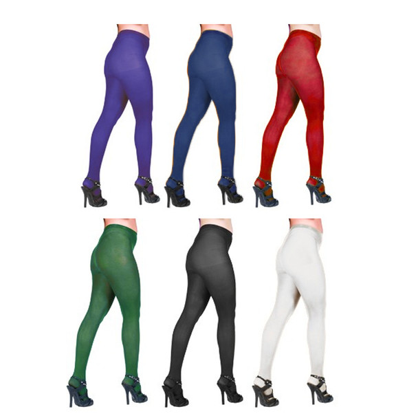 12 PACK Footless Tights Mixed Colors Semi Opaque 8059