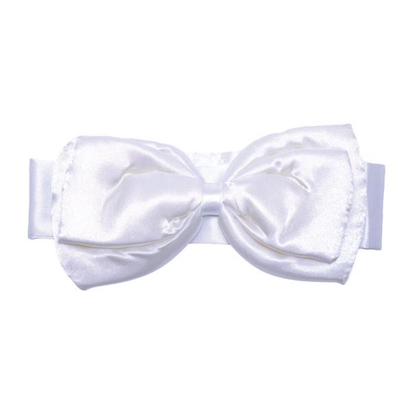 White Bunny Bow Tie Plush Deluxe Girls  6808