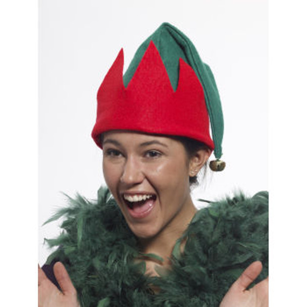 Child Elf Hat Red Green with Bell 1576