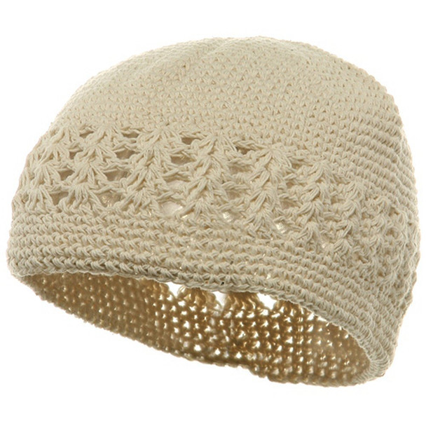 Off-White Kufi Crochet Beanies 12 PACK 1477