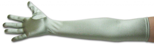 "Satin Opera Gloves Pale Green 23"" 5102"