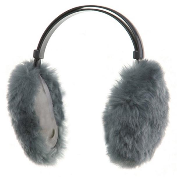 Furry Ear Warmers Gray 6710