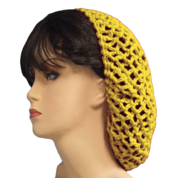 12 PACK Yellow Crochet Hair Snood 6634