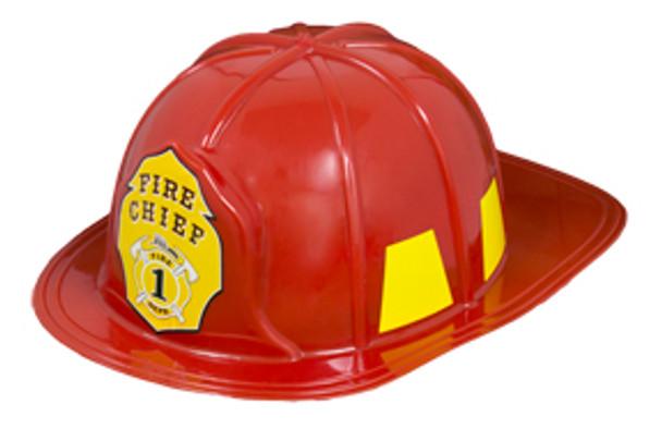 "Fireman Hat Bulk   Adult Hard Helmet Deluxe 22.5"" Standard 954"