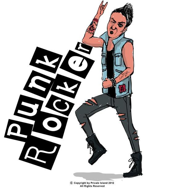 Punk Rocker Costume 4405