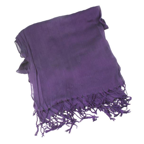 Scarf Viscose Purple 2040 Light Wear Spring Summer Fall