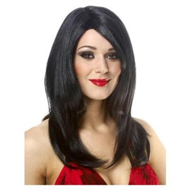 Black Straight Bangs Wig 6054