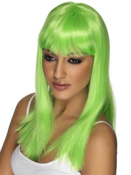 Straight Long Green Wig 6062