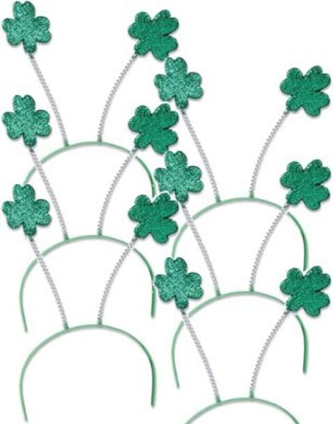 St. Patricks Day Green Shamrock Head Boppers 12 PACK 1871D