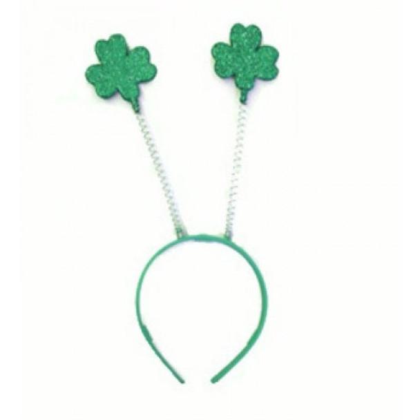 St. Patricks Day Green Shamrock Head Bopper 12 PACK 1872