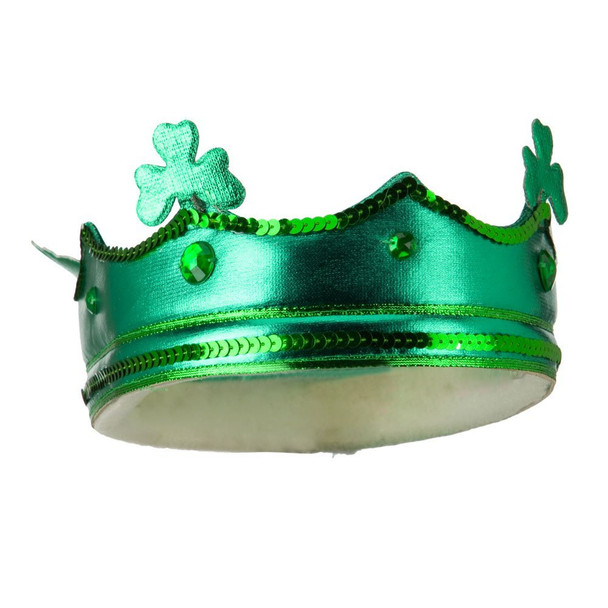 St. Patricks Day Green Shamrock Drunken Crown 1835