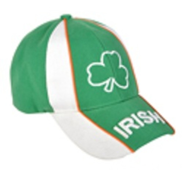 St. Patricks Day Shamrock Cap White & Green 5960