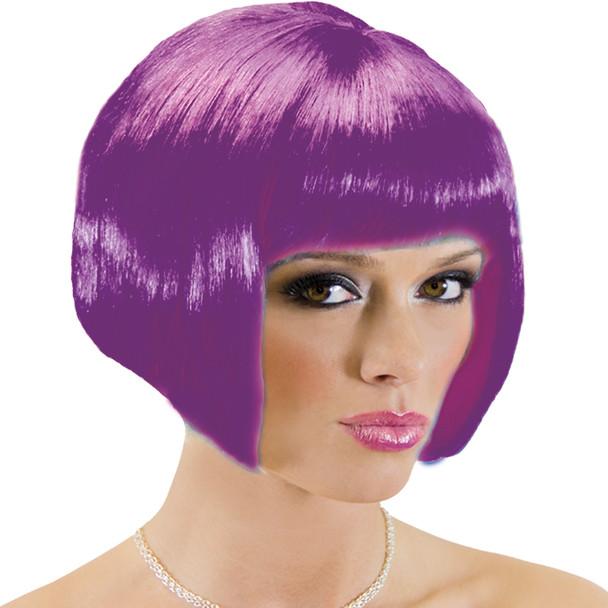 70's Neon Purple Bob Wig Costume Bob Wig 6076