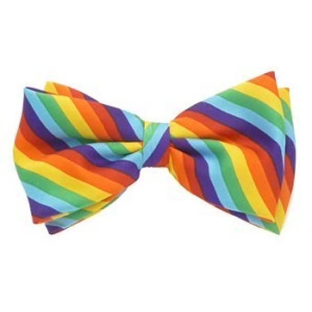 Rainbow Satin Men's Costume Clown Bow Tie 6842