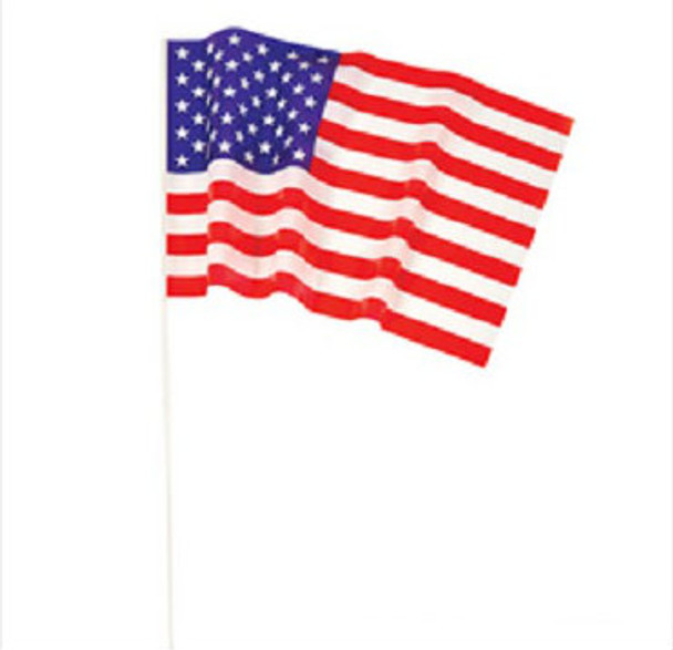 """12 PACK Wholesale USA Pride Flags 12"""" 9032"""