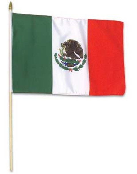 """12 PACK Wholesale Mexican Pride Flags 12"""" x 18"""" 9077"""