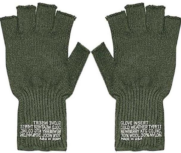 G.I. Type Wool Fingerless Gloves Olive Drab 5065