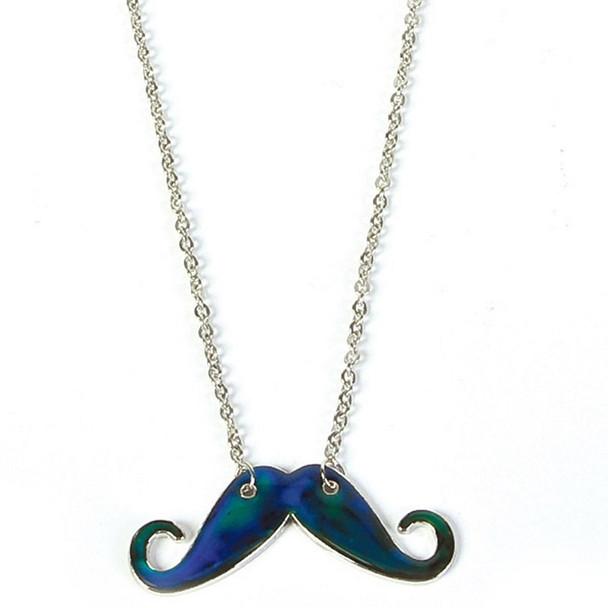 Black Mustache Necklace 6692