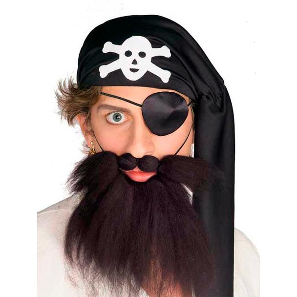 Pirate Beard Black 12 PACK 9063