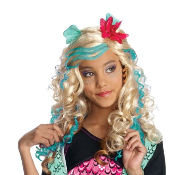Monster High Lagoona Costume Blue Girls Wig 6064