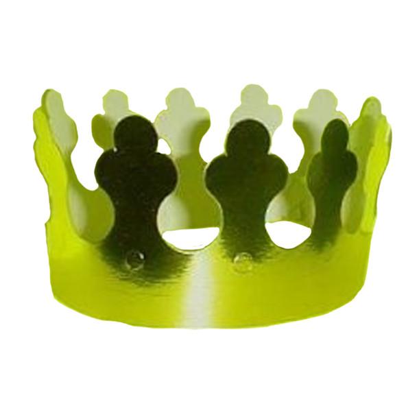 12 PACK Kids Gold Foil Crown 1796