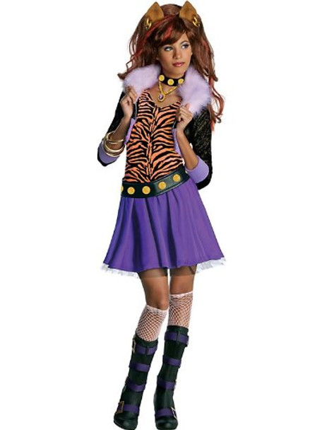 Monster High Clawdeen Wolf Child Costume 4709S-4709L