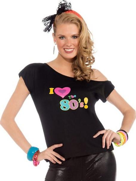 Womens I Love The 80's Shirt Adult Costume 4532S-4532L
