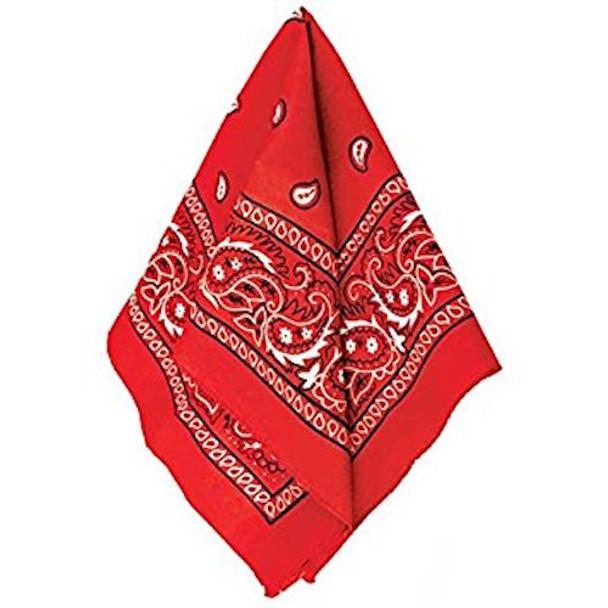 "Bulk Red Bandannas | Wholesale Red Bandannas | 22"" Square Standard 100% Cotton 12 PACK 1919D"