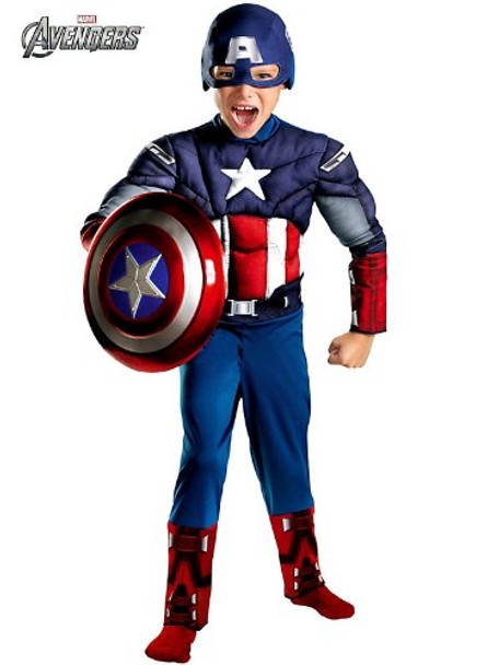 Kids Muscle Chest Captain America Halloween Costume