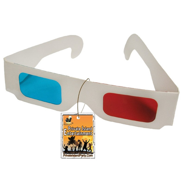 Anaglyph 3D Glasses Paper Red and Blue 50 PACK 1172D