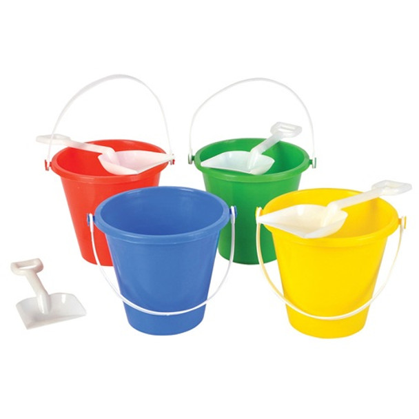 """Beach Pails and Shovel 5"""" 12 PACK 9158"""