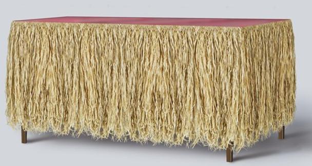 "Natural Raffia Table Skirt 30"" 3835"