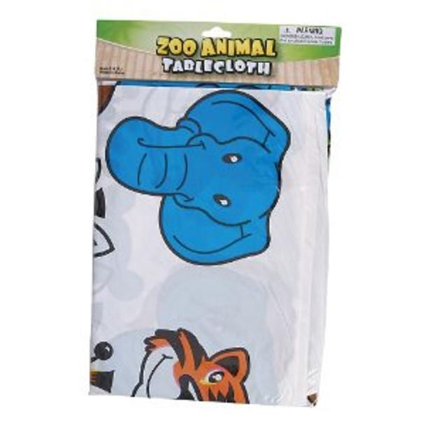 Plastic Zoo Animal Table Cloth 3885