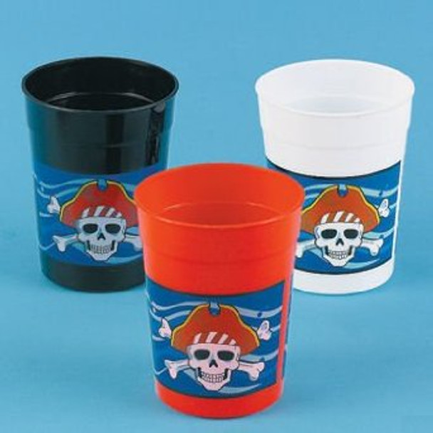 Pirate Party Plastic Cups 12 PACK 3846D