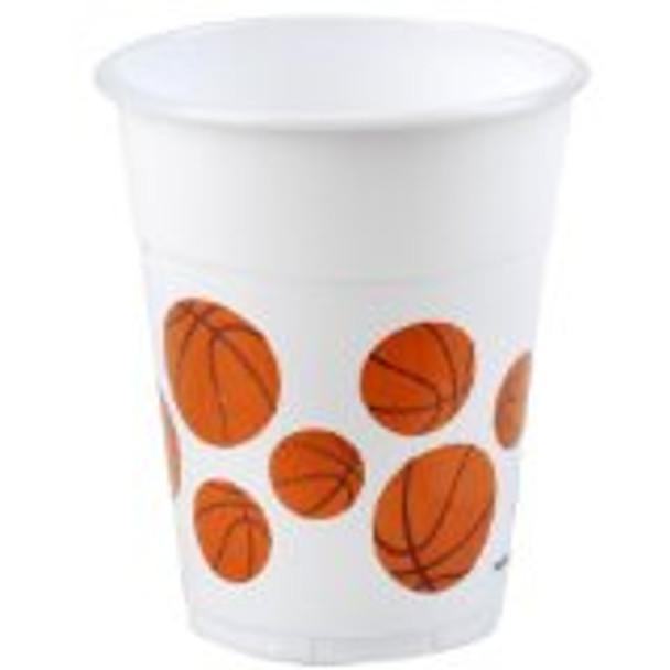 Basketball Plastic Cups 14oz. Dozen 3840D