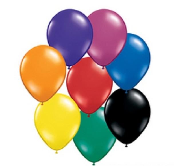 Assorted Jewel Tones Balloons 100pcs 3875