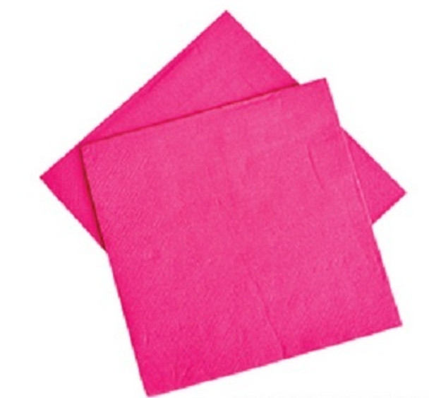 """Hot Pink Party Napkins 10"""" 20 Pack  3867"""