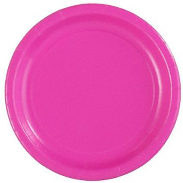 """Party Paper Plates Hot Pink  9"""" 20 Pack 3861"""