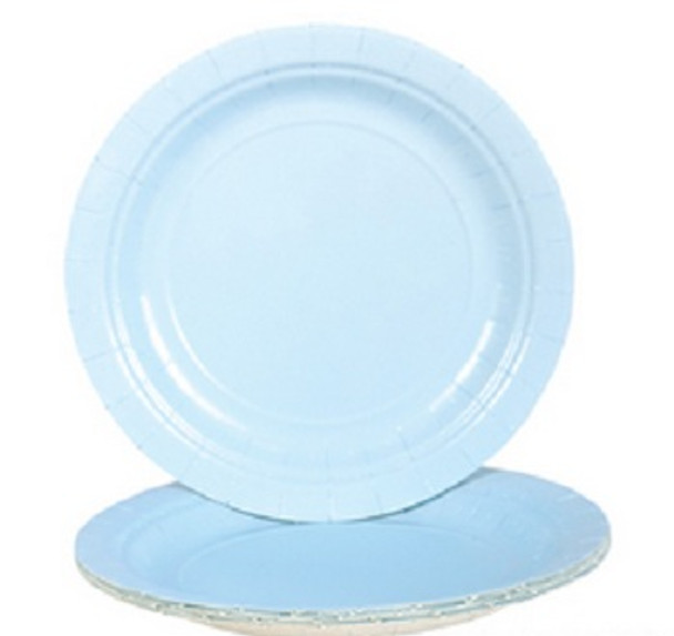 """Party Paper Plates Light Blue  9"""" 20 Pack 3860"""