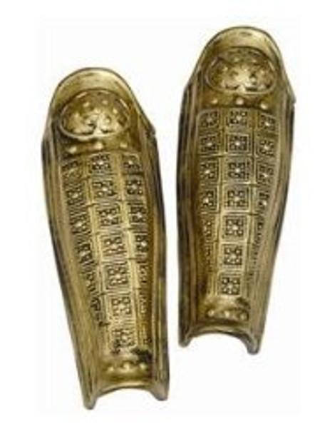 Roman Leg Guards Gold 12 PACK 4509D