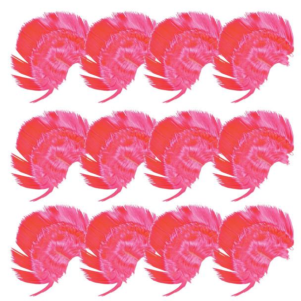 Hot Pink Mohawk Wig Bulk |  12PK  6030D