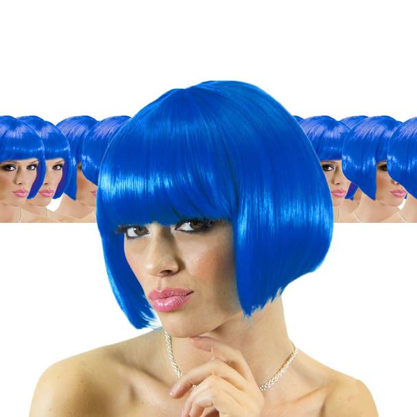 Blue Bob Supermodel Wig 12 PACK  6044D