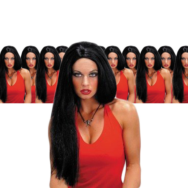 Black Wig 24 Inch Wicked Witch Straight Wig 12 PACK  6047D
