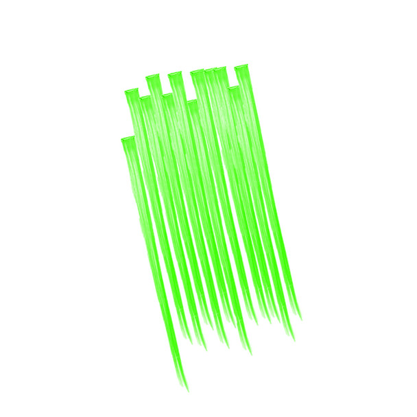 Green Hair Extensions 12 PACK 6151D