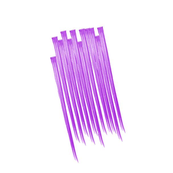 Purple Hair Extensions 12PK 6152D