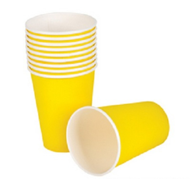 Party Paper Cups Yellow 9 oz 12 Pack 10477